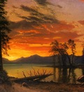 Bierstadt Albert Sunset over the River