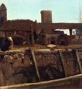 Bierstadt Albert Wharf Scene