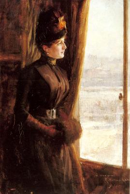 Edelfelt Albert A Portrait Of Madame Vallery Radot