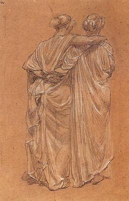 Moore Albert Joseph Study of Two Female Figures