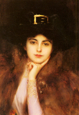 Lynch Albert Portrait Of An Elegant Lady
