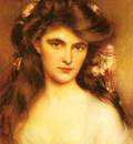 Lynch Albert A Young Beauty With Flowers In Her Hair