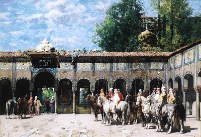 Cavalieri Circassi Che Aspettano Il Loro Capo