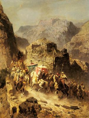 Pasini Alberto An Arab Caravan