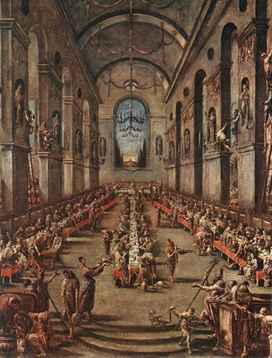 MAGNASCO Alessandro The Observant Friars in the Refectory
