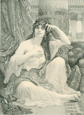 Cabanel Alexandre The Sulamite engraving