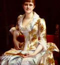 Cabanel Alexander Portrait Of Young Lady