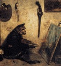 DECAMPS Alexandre Gabriel The Monkey Painter