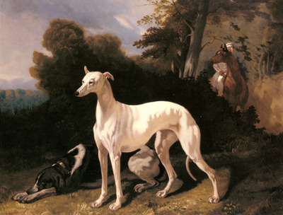 Dreux Alfred De A Greyhound In An Extensive Landscape