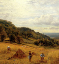 Glendening Alfred Augustus Harvesting At Luccombe Isle Of Wight