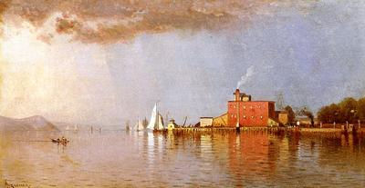 Bricher Alfred Thompson Along the Hudson