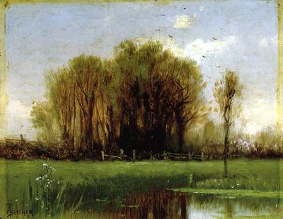 Bricher Alfred Thompson Landscape with Water