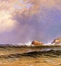 Bricher Alfred Thompson Coastal Scene with Lighthouse