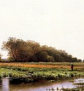 Bricher Alfred Thompson Hunter in the Meadows of Old Newburyport Massachusetts