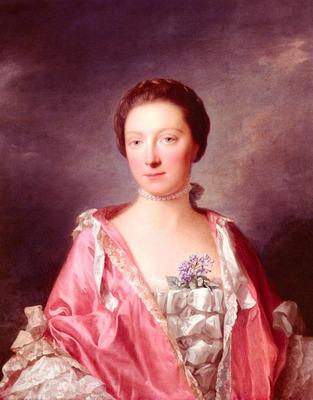 Ramsay Allan Portrait Of Elizabeth Gunning Duchess Of Argyll