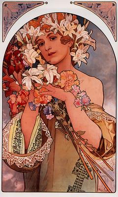 Flower 1897 44 4x66 2cm litho
