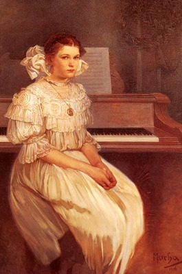 Mucha Alphonse Maria Portrait Of Milada Cerny