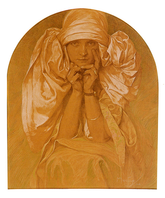 Mucha Alphonse Portrait Of The Artists Daughter Jaroslava