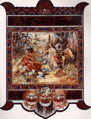 The Judgement of Paris 1895 32 5x50cm calendar