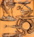 Studies 1902 52x39cm crayon gouache