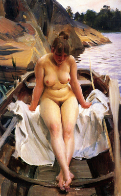 anders zorn i werners eka in werner s rowing boat
