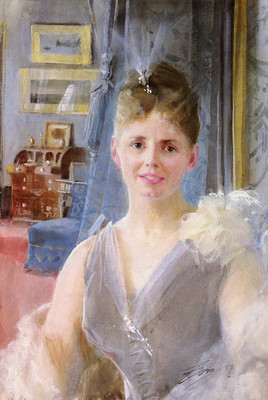 Zorn Anders Portrait Of Edith Palgrave Edward In Her London Residence