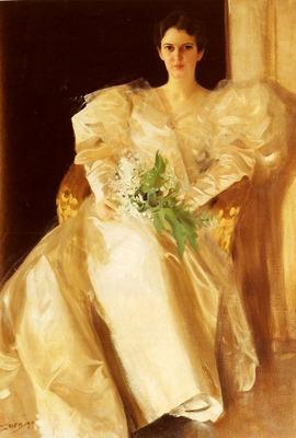 Zorn Anders Portrait Of Mrs Eben Richards