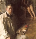Zorn Self portrait with a model