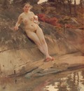 Zorn Sunbathing girl