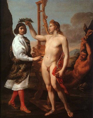 SACCHI Andrea Marcantonio Pasqulini Crowned By Apollo