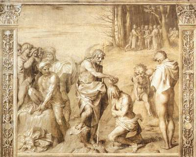 ANDREA DEL SARTO Baptism Of The People