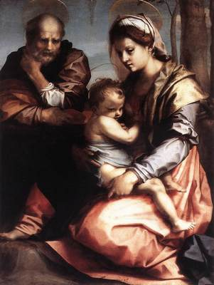 ANDREA DEL SARTO Holy Family barberini