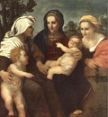 Madonna and Child with Sts Catherine Elisabeth and John the Baptist WGA