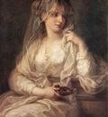 KAUFFMANN Angelica Portrait Of A Woman Dressed As Vestal Virgin