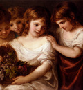 Kauffman Angelica Four Children With A Basket Of Fruit