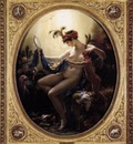 GIRODET Anne Louis Mademoiselle Lange As Danae