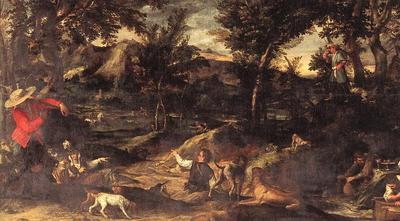 Carracci Annibale Hunting