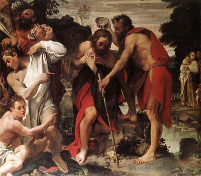 Carracci Annibale The Baptism of Christ