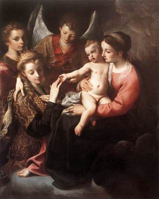 Carracci Annibale The Mystic Marriage of St Catherine