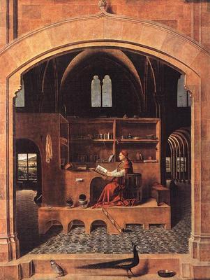 ANTONELLO da Messina St Jerome In His Study