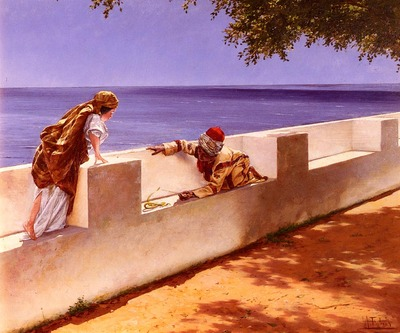 Costa Antonio Maria Fabres y The Young Snake Charmer