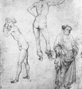 PISANELLO Nude Men And St Peter