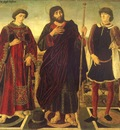 POLLAIUOLO Antonio del Altarpiece Of The SS Vincent James And Eustace