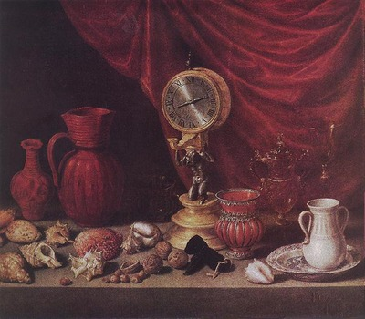 PEREDA Antonio de Still life With A Pendulum