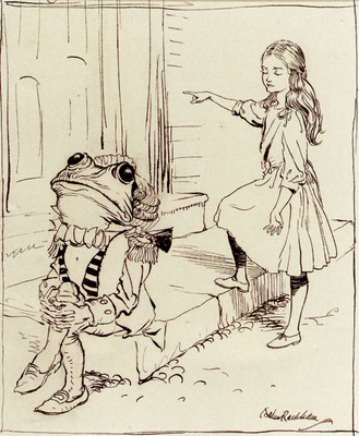 Rackham Arthur Alice And The Frog Footman
