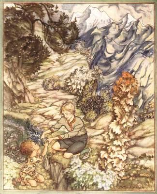 Rackham Arthur King of the Golden River Gave the Child a Bottle