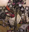 Rackham Arthur Alice in Wonderland The Queen s Croquet Ground
