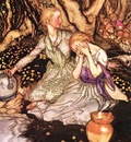 Rackham Arthur Goblin Market Down the glen tramp little men