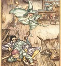 Rackham Arthur King of the Golden River So there they lay all three