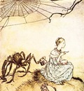 Rackham Arthur Mother Goose Little Miss Muffet